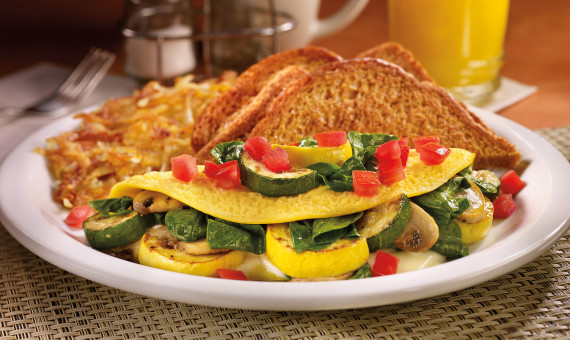 Loaded Veggie Omelette