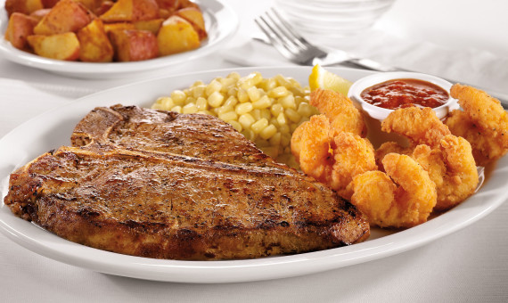 T-Bone Steak & Shrimp